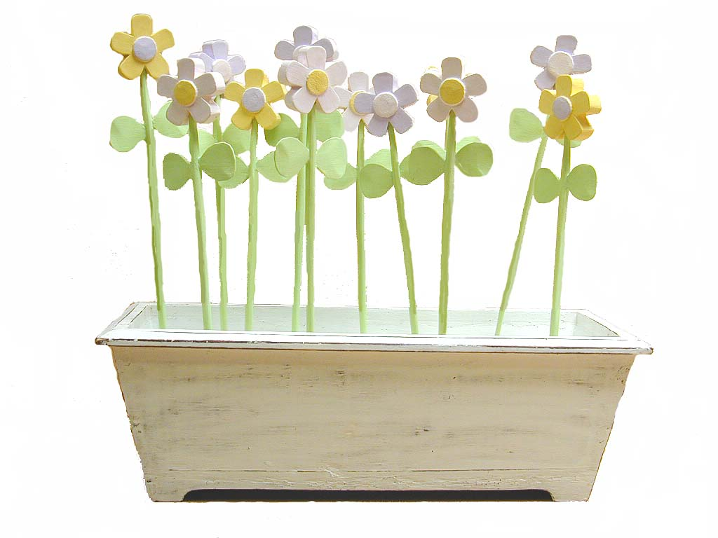 Wooden flowers flower boxes - Wooden containers for flowers ...