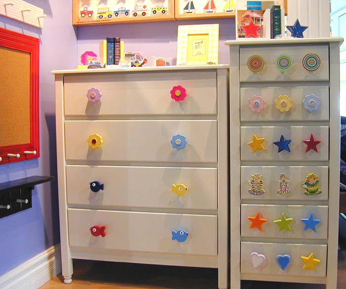 childrens drawer pulls - chest of drawers